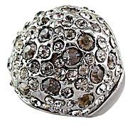 Full Crystal Black Ring