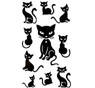 5 Stück Black Cats Wasserdicht Tattoo (10,5 cm * 20,5 cm) HM426