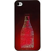 Botella de Cartas Patrón Hard Case aluminoso para el iPhone 4/4S