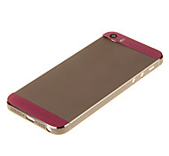 Champagene Hard Metal Alloy Back Battery Housing with Pink Glass For iPhone 5s