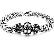 Le bracelet en acier de titane de crâne caractères classiques des hommes avec des produits de haute qualité