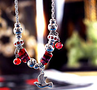 Dark Blue / Red / Blue Strands Necklaces Alloy Party / Daily Jewelry