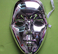 Shiny Metallic PVC Halloween Full Face Mask