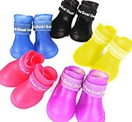 zapatos de protección a prueba de agua de lluvia de goma para mascotas (tamaño, colores surtidos)