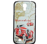 Bubble Car Painting Pattern Hard PC Cas  for Samsung Galaxy S4 I9500