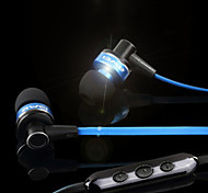 Flat Cable Style In-Ear Earphones with Mic (Assorted Colors)