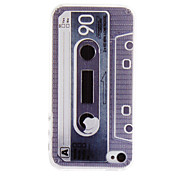 Retro Tape Pattern Terug Case voor iPhone 4