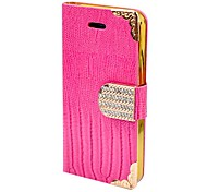 Solid Color Gold Frame Diamond Full Body Case for iPhone 5/5s(Assorted Color)