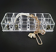 Acrylic Transparent 2x6 Quadrate Jewlery Storage Box
