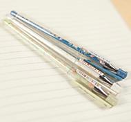 Simple Design Floral Pattern Gel Pen(Random Color,1 PCS)