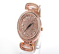 WOMEN'S Water-Resistant Diamond Dial leather Band Quartz Wrist Watch