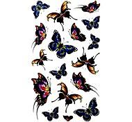 5 Stück Schmetterling wasserdicht Temporary Tattoo (10,5 cm * 20,5 cm) HM408