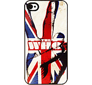 Starker Mann in der Union Jack-Muster Tonerde Hard Case für iPhone 4/4S