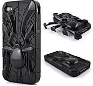 Double Shells Design Spider Shape Hard Case for iPhone4/4s  (Assorted Colors)