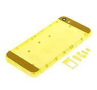 Yellow Hard Plastic Back Battery Housing with Buttons and Yellow Glass For iPhone 5s