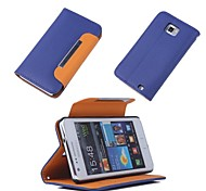Designer Lichee Print Flip Stand Wallet Card Leather Case Cover for Samsung Galaxy S II S2 I9100