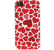 Multiply Herzen Geprägte Muster Matte Entwickelt PC Hard Case für iPhone 4/4S
