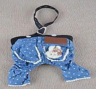 Dog Pants Blue Dog Clothes Summer Jeans