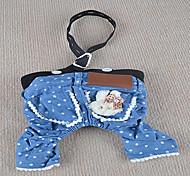 Chien Pantalon Bleu Vêtements pour Chien Eté Jeans
