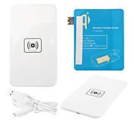 White Wireless Power Charger Pad + USB Cable + Receiver Paster(Blue) for Samsung Galaxy S3 I9300