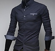 Camicia a maniche lunghe Dots Uomo Slim