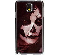 Scary Women Face Decal Pattern Plastic Hard Back Case Cover for Samsung Galaxy Note3 N9000