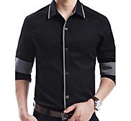 Men's Slim Cotton Long Sleeve Shirt