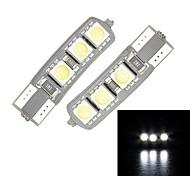 Merdia T10 6-SMD 5050 LED de luz blanca para la matrícula de Canbus Decoded coche de la lámpara / lámpara de lectura (par)