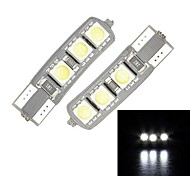 Merdia T10 6-SMD 5050 luce bianca a LED per Canbus Decoded Car Targa lampada / lampada di lettura (coppia)