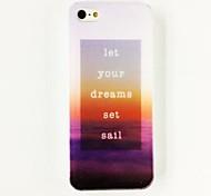Дело морской парусный спорт Очаровательная Слово Pattern Пластиковые Футляр для iPhone 4/4S