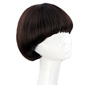Women Short Synthetic Full Bang Wigs Mushroom Hairstyle 3 Colors Available