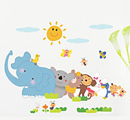 1PCS Colorful Animals Wall Sticker