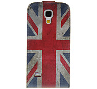 UK Flag PU Leather Case for Samsung 9190