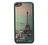Urban Tower Drawing Pattern Hard Case for iPhone 5C