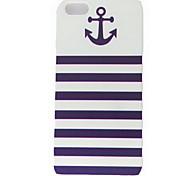 Âncora Naval Stripe Padrão Hard Cases para iPhone 5/5S