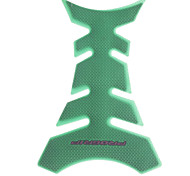 Soft Rubber Motorcycle Fishbone Sticker - Green
