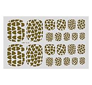 22PCS Abstract Love Pattern Toenail Art Sticker TJ Sery No.7
