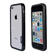 Doble de la manera del color TPU capítulo de parachoques para iPhone5C (Negro + Gris)