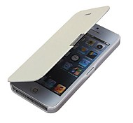 VORMOR® Flip PU Leather Magnetic Hard Case for iPhone 4/4S (White)