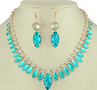 Fashion Style Alloy Necklace Earring Jewelry Set