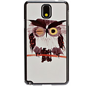 Chinese Ink Painting Owl Decal Pattern Mirror Smooth Back Hard Case for Samsung Note3 N9000
