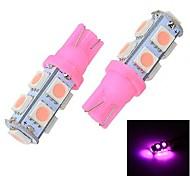 Merdia T10 9 x 5050 Rosa Luce Light Reading / Instrument luce / Clearance della lampada (coppia / 12V)