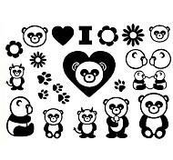 5 PC Panda agua tatuaje temporal (11cm * 15cm)