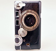 Retro Camera Pattern Hard Case for Sony Xperia Miro ST23i