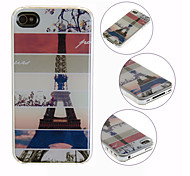 Retro Tower Pattern Back Case for iPhone 4/4S