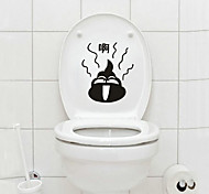 1PCS Black Lovely Poop Closestool Sticker