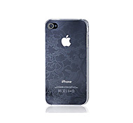 Ultra-slim Tracery Design Back Case for iPhone 4/4S