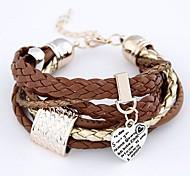 Bracelet/Wrap Bracelets Leather Inspirational Daily Jewelry Gift Coffee