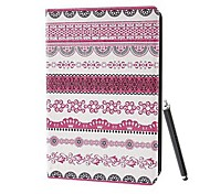 Classic Tribe Tribal Cloth Pattern PU Full Body Case with Stand and A Stylus Touch Pen for iPad 2/3/4