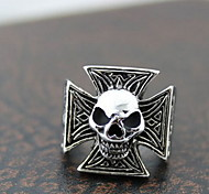 Z&X®  Gothic Silver Alloy Skull Men's Statement Rings(1 Pc) Christmas Gifts